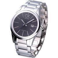 CK new blod 簡約風鋼帶腕錶-黑(K2246107)
