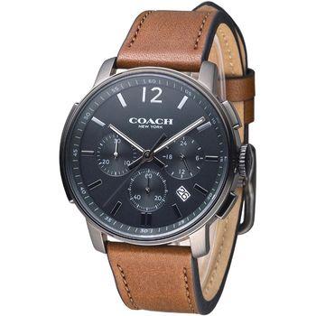 COACH 紐約時尚三眼計時男錶-咖啡(14602017)