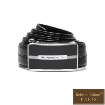 Roberta Colum - 紳士們工藝碳纖自動金屬滑扣牛皮皮帶