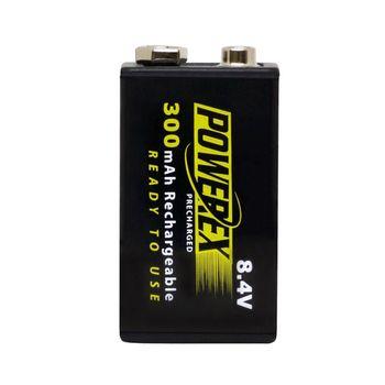 【MAHA-POWEREX】9V 低自放充電池MHR84VP(300)
