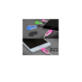 i線套 iPhone蘋果傳輸線保護夜光線套(2入組)