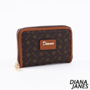 Diana Janes 經典LOGO 牛皮時尚零錢夾