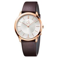 Calvin Klein CK Minimal 極簡時尚腕錶 銀 玫瑰金框 40mm K3M216G6