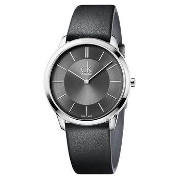 Calvin Klein CK Minimal極簡時尚腕錶 灰 40mm K3M211C4