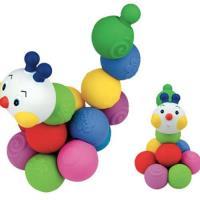 〔 香港 Ks Kids 〕益智玩具系列 - 彩色安全積木︰可愛毛毛蟲 SB002-81