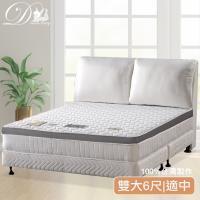 【睡夢精靈】巴黎戀人透氣型3D圍邊獨立筒床墊雙人加大6尺
