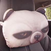 3D貓熊活性炭汽車枕/睡枕/靠枕/頸枕