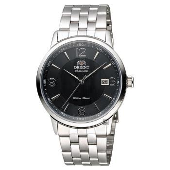 ORIENT 東方錶 DATE系列 城市菁英機械錶 黑x銀 41mm FER2700BB