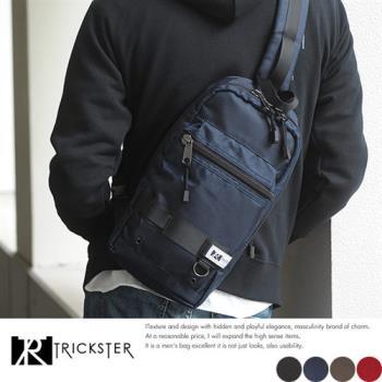 【TRICKSTER】日本品牌 6個口袋 斜背包 腳踏車包 B5 單肩後背包 iPad大小 多夾層機能包【tra002】
