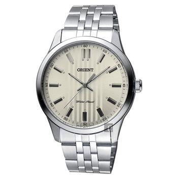 ORIENT 東方錶 都會雅仕石英錶 灰x銀 42mm FQC0U003K