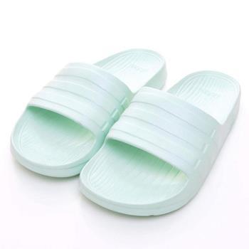 【ADIDAS】 Duramo Slide系列 女運動拖鞋 粉綠 AQ2155