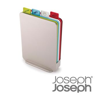 《Joseph Joseph英國創意餐廚》檔案夾直立式砧板組(銀)