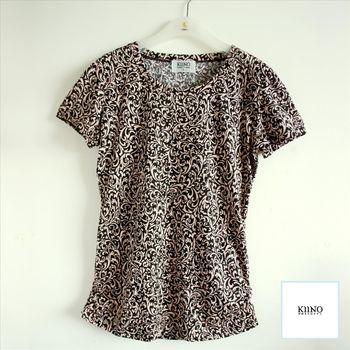 【KIINO】精梳棉天然渲染印花上衣8811-1911