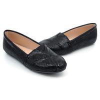 【 101大尺碼女鞋】MIT蛇皮紋樂福鞋-大尺碼系列♥黑色♥QLQR-HI