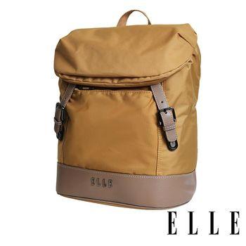 ELLE 時光旅人系列-大容量IPAD/13吋筆電休閒後背包- 日光駝