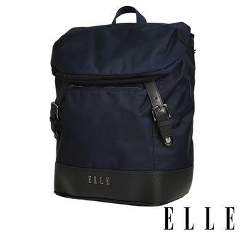 ELLE 時光旅人系列-大容量IPAD/13吋筆電休閒後背包- 午夜藍