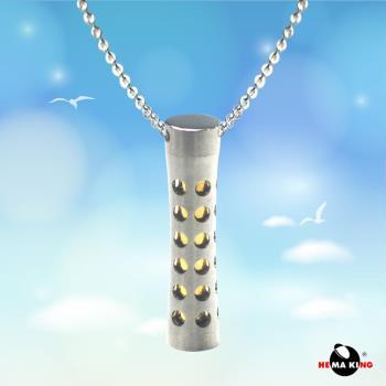 【HEMAKING】銀香水瓶造型項鍊 可放香水/金圓柱/可打開(附銀鍊)