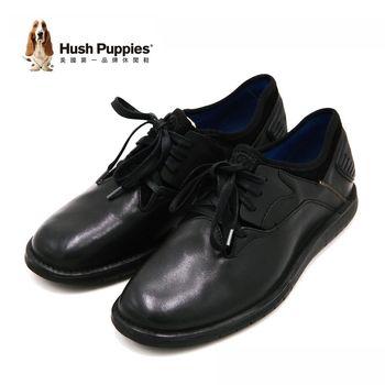 Hush Puppies ADEPT BOLT系列 真皮綁帶休閒鞋 男鞋-黑(另有棕)