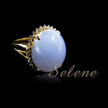 【Selene珠寶】紫羅蘭翡翠18K金戒(A貨翡翠鑽石8588)