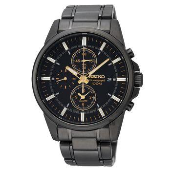 SEIKO 特務交鋒時尚計時腕錶 黑 41mm 7T62-0LD0SD SNAF07P1