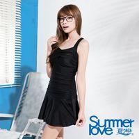 【SUMMERLOVE夏之戀】大女比基尼三件式泳衣-黑E16717