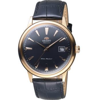 ORIENT 東方錶 DATE II 日期顯示機械錶 FAC00001B 玫瑰金色