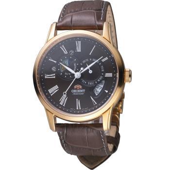 ORIENT 東方錶 SUNMOON系列 羅馬數字日月相錶 SET0T003T