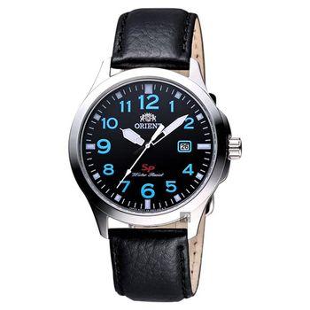 ORIENT 探險家SP石英腕錶 黑x藍時標 40mm FUNE4009B