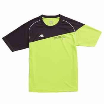 KAPPA義大利型男吸濕排汗速乾彩色圓領衫ALLDRY螢光黃 深灰A052-0527-2