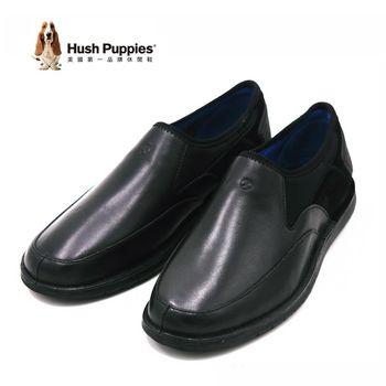 Hush Puppies 復古簡約直套式懶人鞋 休閒鞋 男款-黑(另有棕)
