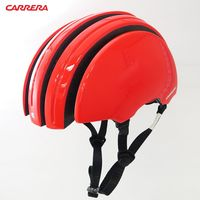 CARRERA義大利 Foldable 收縮式伸縮自行車安全帽-紅色Red Iride