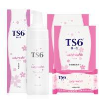 TS6護一生潔淨慕斯180g+私密護膚柔濕巾5包/盒x2盒