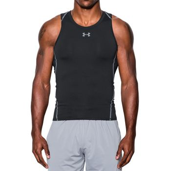 【Under Armour】男子 HG® Armour強力伸縮無袖T恤 1271335-001