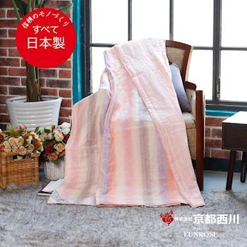 京都西川   日本製 近江麻紡色織夏被(粉) 日式素雅 空調毯涼被(140X190cm)