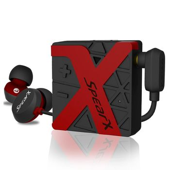 SpearX W1 運動防水藍牙耳機-活力紅