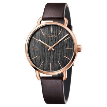 Calvin Klein CK Even 超然木質時尚腕錶 灰 42mm K7B216G3