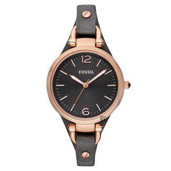 FOSSIL 俏皮女孩時尚腕錶 灰玫塊金 32mm ES3077