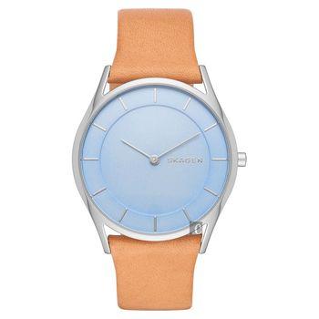 SKAGEN Hagen 北歐時尚石英腕錶 藍x咖啡 36mm SKW2451