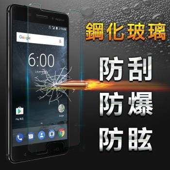 【YANG YI】揚邑 Nokia 6 防爆防刮防眩弧邊 9H鋼化玻璃保護貼膜