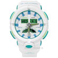 G-SHOCK CASIO / GA-500WG-7A / 卡西歐夏日涼爽指針數位雙顯橡膠手錶 白綠色 52mm