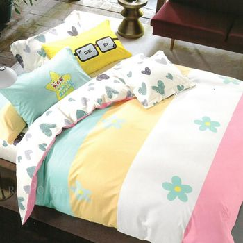 R.Q.POLO  童話王國 精梳棉 兩用被床包四件組(雙人標準5X6.2尺)