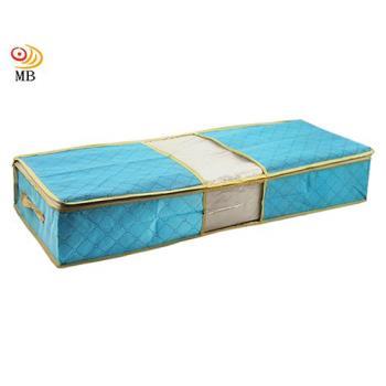 月陽80X40竹炭彩色透明視窗床下棉被衣物收納袋整理箱(C70L)