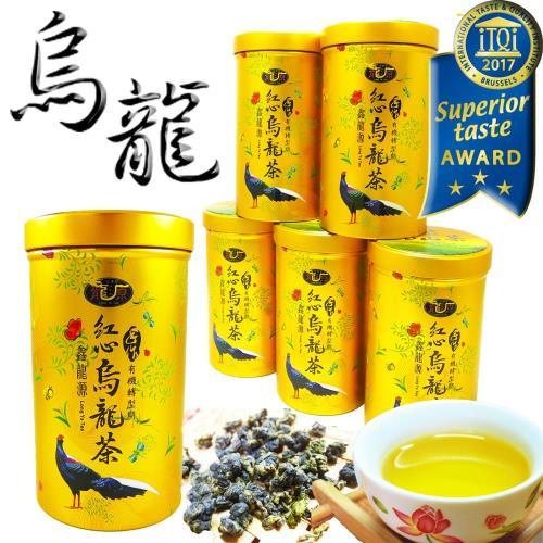 【鑫龍源有機茶】傳統手作-有機紅心烏龍青茶6罐組(100g/罐) - 附提袋 - 有機轉型期-冬茶鮮摘