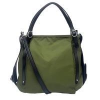【M2nd】馬德里牛皮防水布包(綠色)