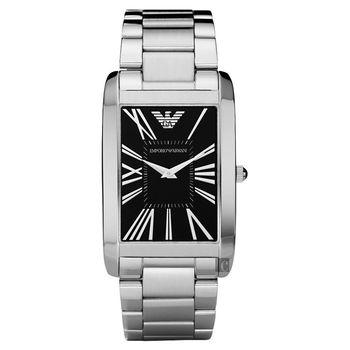 ARMANI 羅馬風情義式時尚腕錶-黑/31mm AR2053