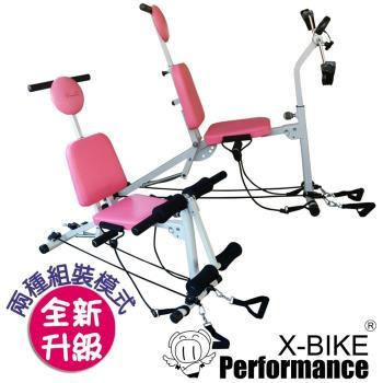【 X-BIKE 晨昌】草泥馬 35合一多功能有氧運動器 空中腳踏車 美腹機 肌肉訓練 啞鈴 仰臥板 台灣精品 AB7000組裝模式,多功能自由玩轉