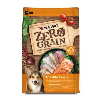 優格 零穀全齡犬5種魚狗飼料乾糧 2.5磅 X 1包