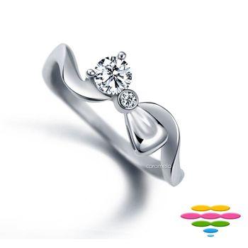 彩糖鑽工坊 蝴蝶結系列 19-21分鑽石戒指