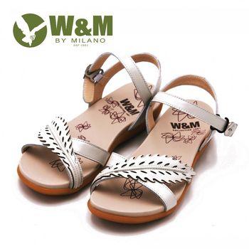 W&M 雕花設計環扣式涼鞋 女鞋-白(另有紫)