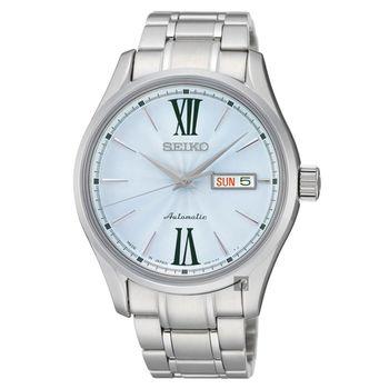 SEIKO PRESAGE 匠心4R36機械腕錶 淡藍 40mm 4R36-01L0B SRP325J1